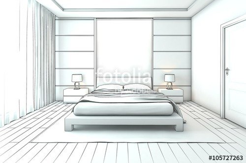 Best Architectural Interior Drawing Bedroom Sketch Stock With Pictures