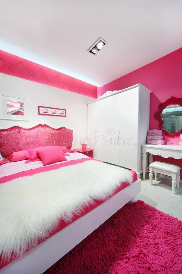 Best Pink White Beautiful Bedroom Stock Photo Image 28023926 With Pictures