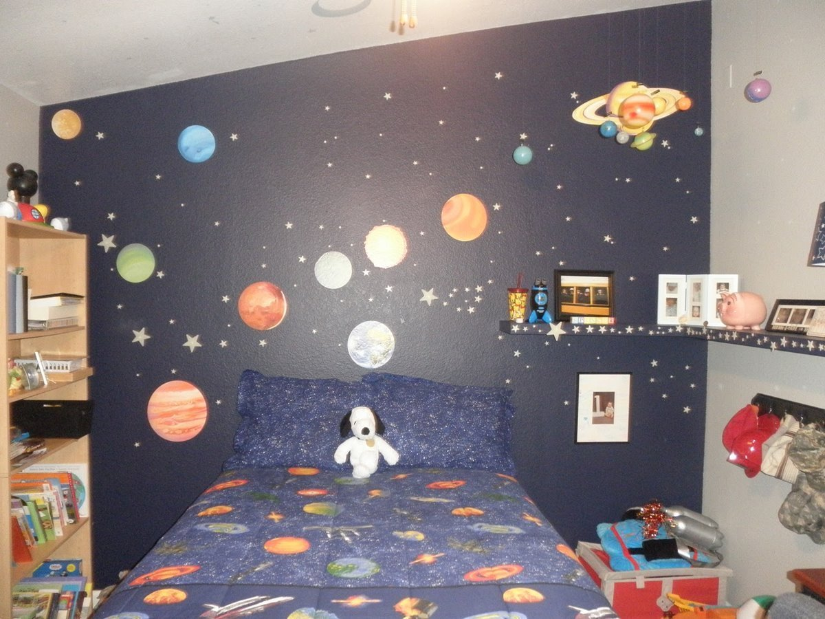 Best Outer Space Themed Bedroom For Young Boys With Pictures