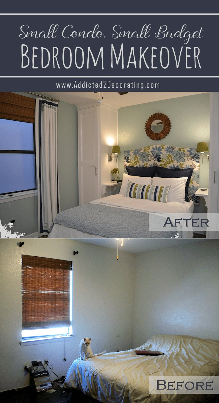 Best Small Condo Small Budget Bedroom Makeover Before With Pictures