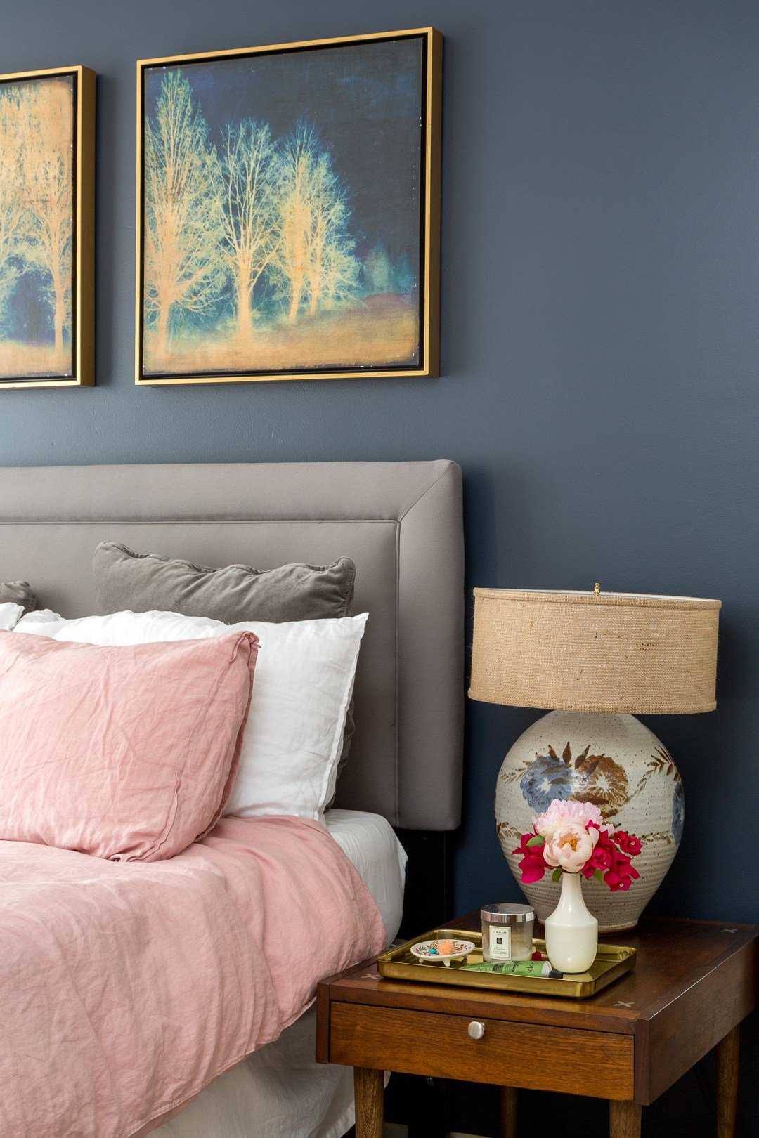 Best Boho Chic Navy And Pink Bedroom A Vintage Splendor At Home With Pictures