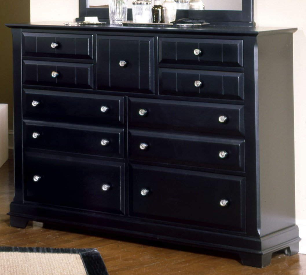 Best Vaughan Basset Cottage Collection 9 Drawer Triple Dresser In Black With Pictures