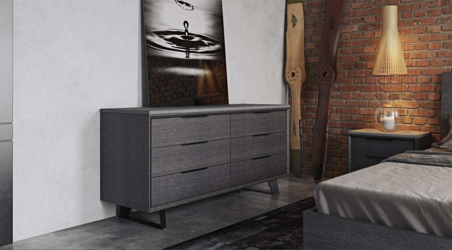 Best Urbano Gray Oak Contemporary Bedroom Dressers Modern With Pictures