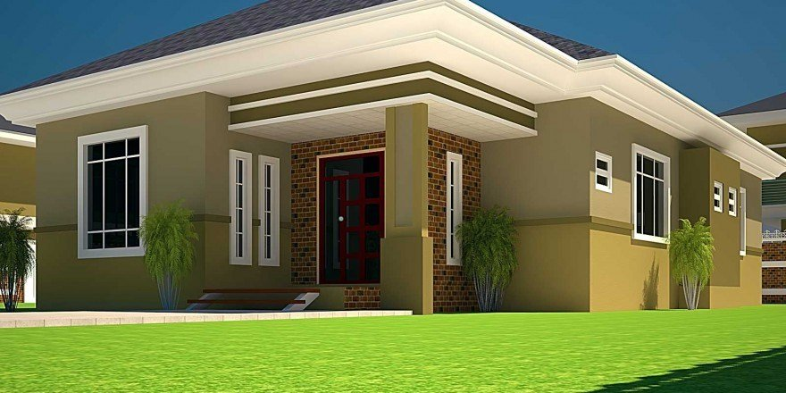 Best House Plans Ghana 3 Bedroom House Plan For A Half Plot In Ghana With Pictures