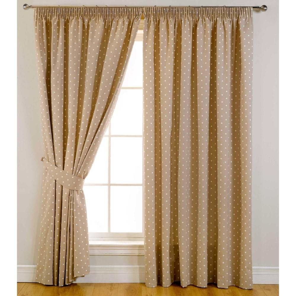 Best Dotty Taupe Ready Made Curtains Bedroom Closs Hamblin With Pictures