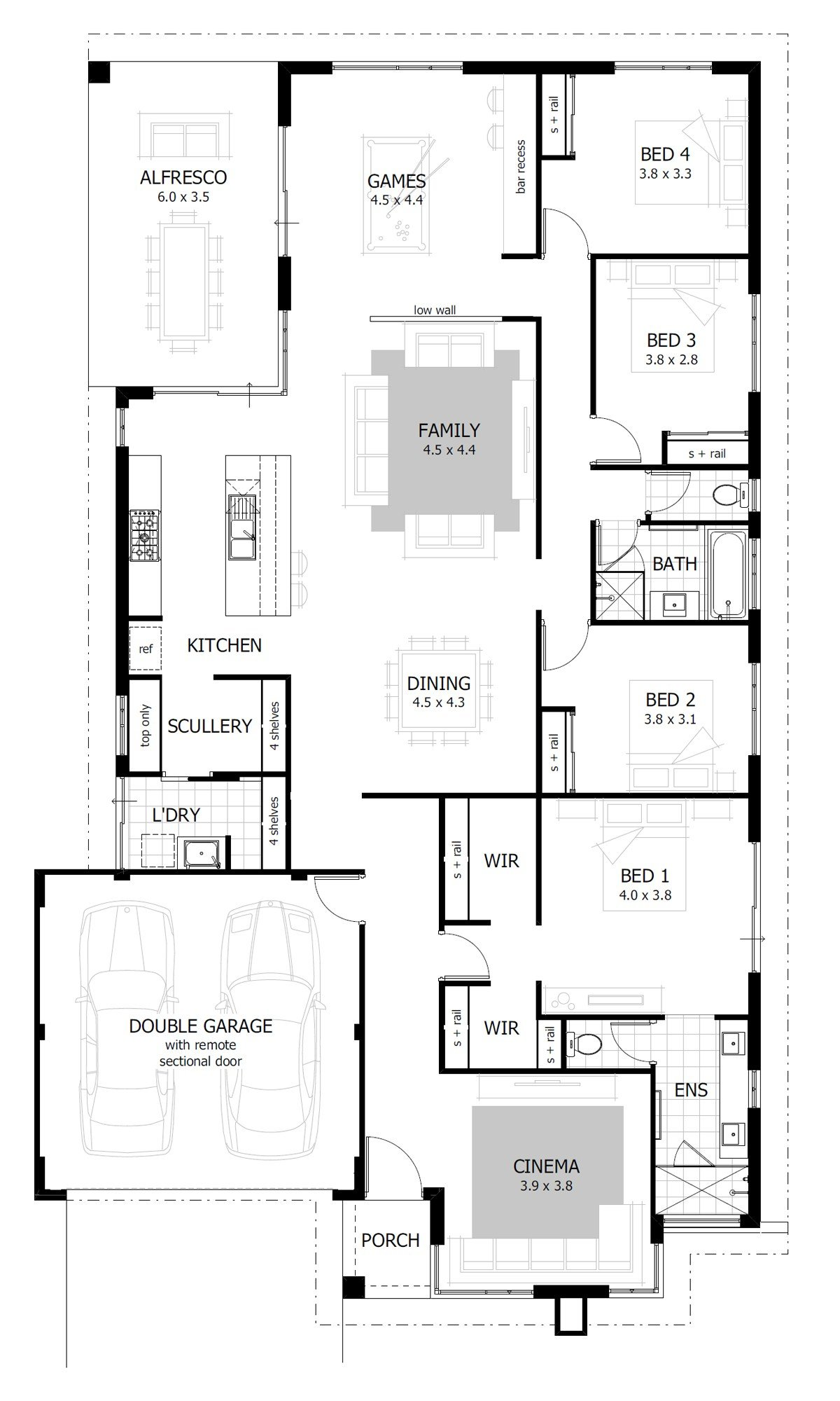 Best 4 Bedroom House Plans Home Designs Celebration Homes With Pictures