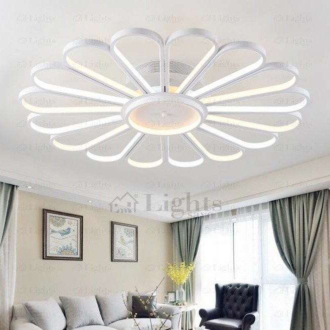 Best Creative Fan Shaped Led Ceiling Light Fixtures For Bedroom With Pictures