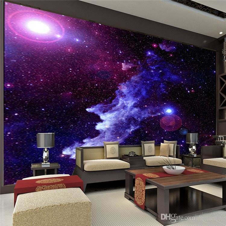 Best Purple Galaxy Wallpaper Mural Photo Giant Wall Decor Paper Poster Charming Galaxies For Children With Pictures