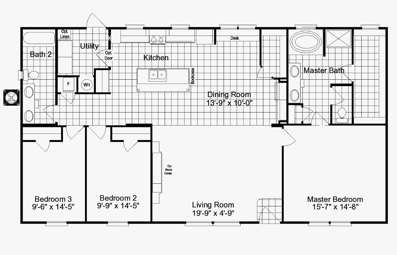 Best 4 Bedroom 3 5 Bath Mobile Home Floor Plans With Pictures