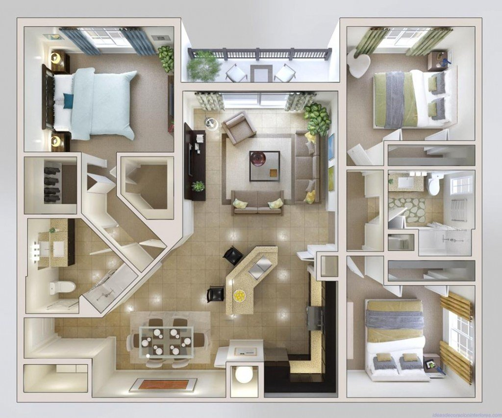 Best Creative Modern 3 Bedroom House Plans — Modern House Plan With Pictures