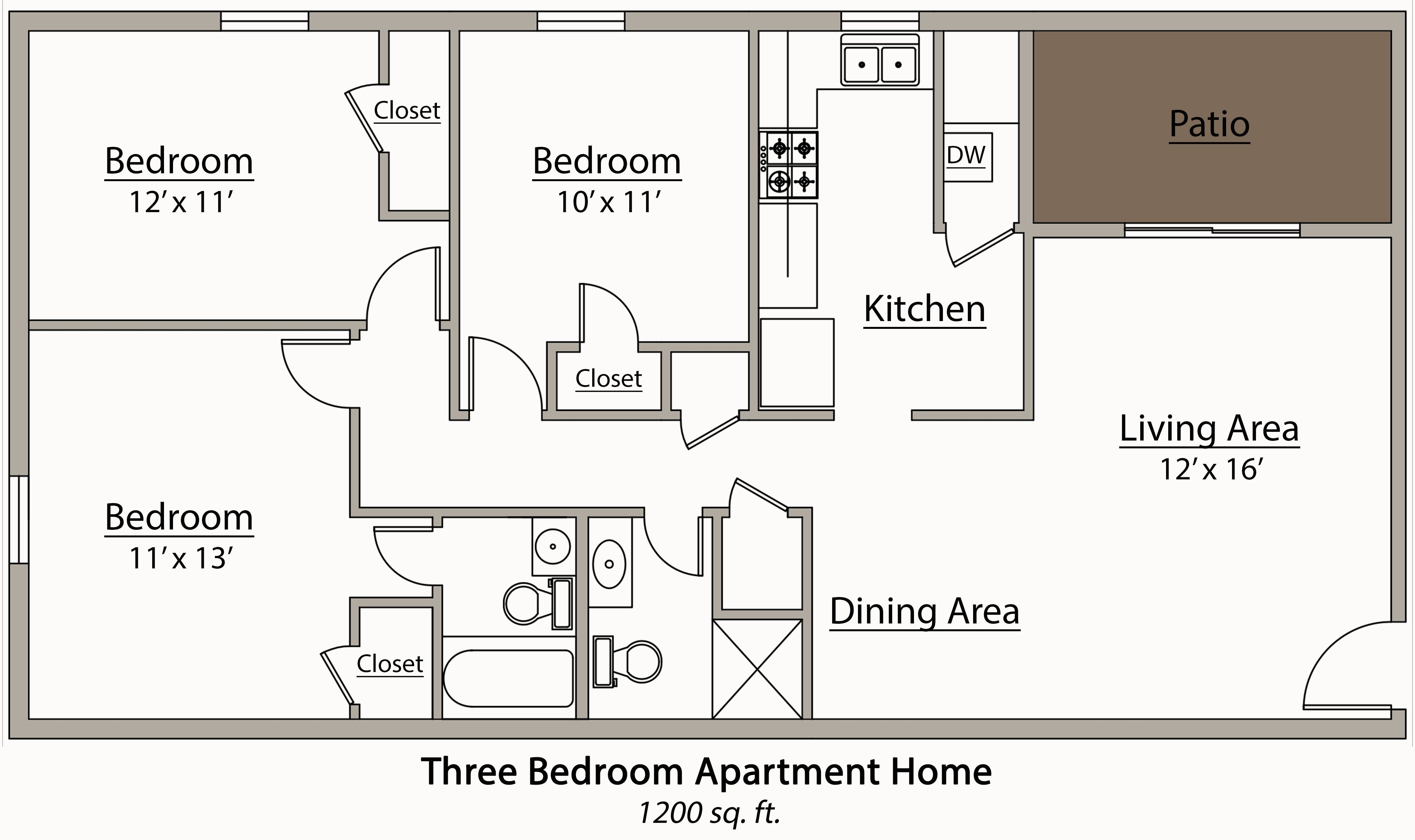 Best 3 Bedroom Flat Plan Drawing — Modern House Plan Modern With Pictures