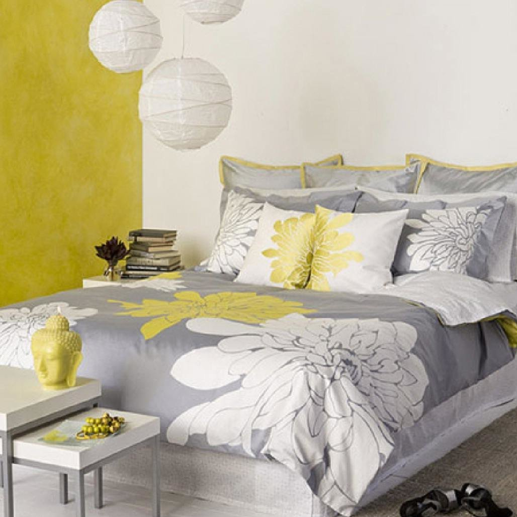 Best Grey And Yellow Bedroom For A Charming Decoration Traba With Pictures