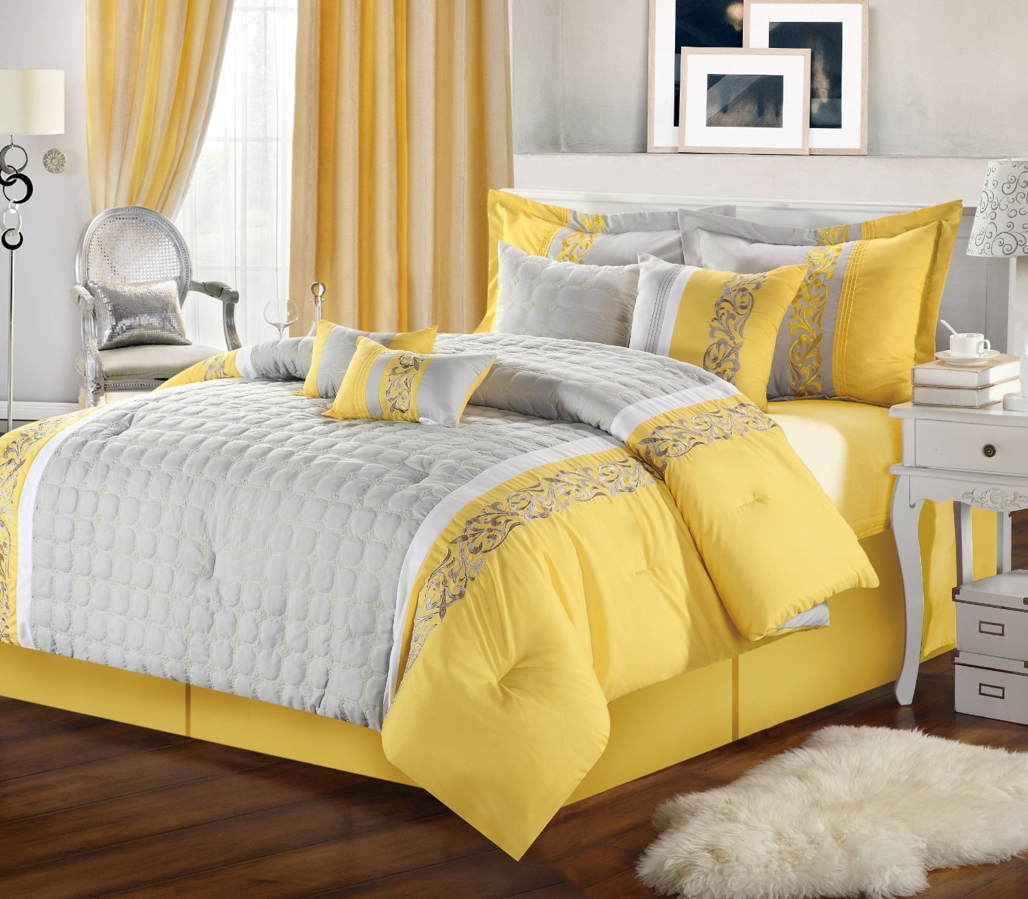 Best Gray And Yellow Bedroom With Calm Nuance Traba Homes With Pictures