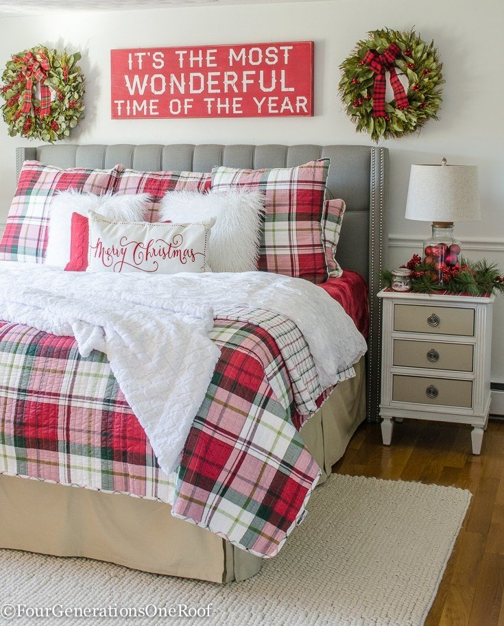 Best Our Plaid Christmas Bedroom Four Generations One Roof With Pictures