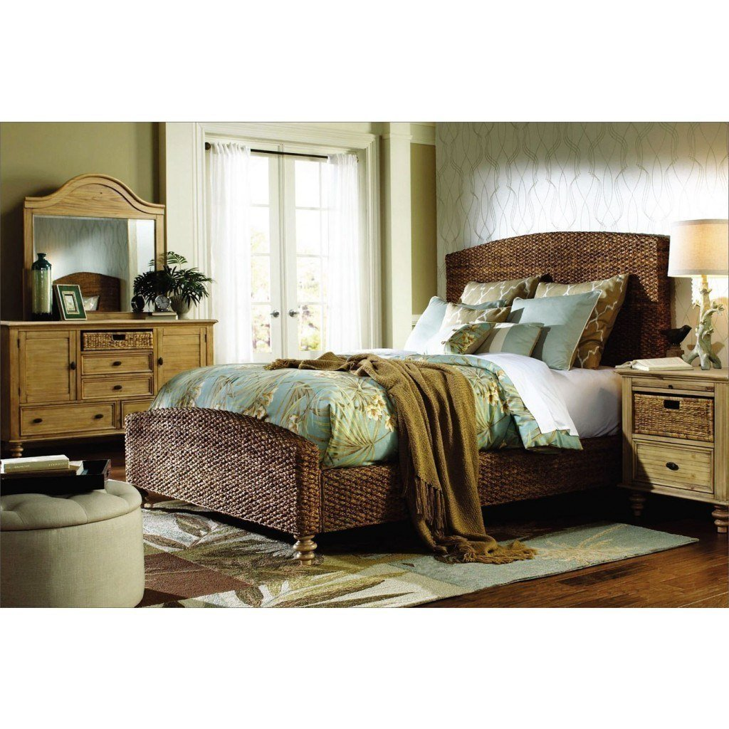 Best Hampton Bedroom Set W Seagrass Bed Cottage Creek With Pictures