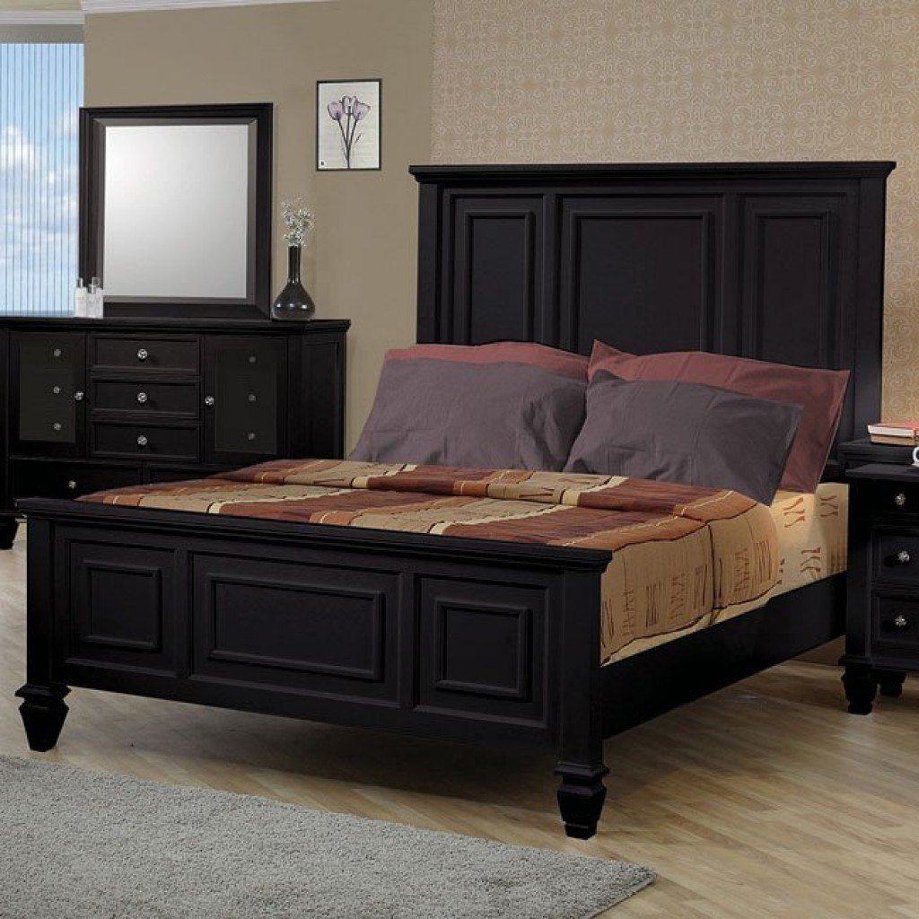 Best Sandy Beach Panel Bedroom Set Black Coaster Furniture 1 With Pictures