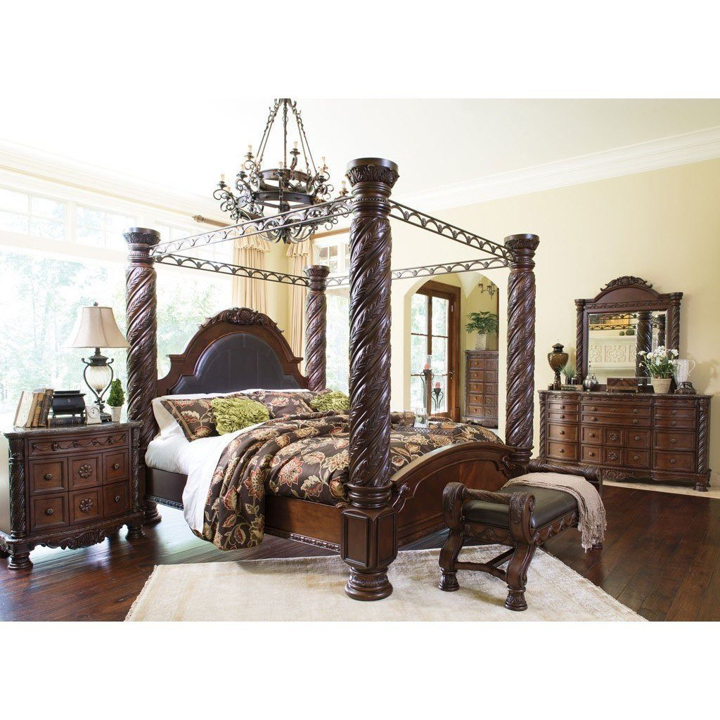 Best North Shore Canopy Bedroom Set Millennium Furniture Cart With Pictures