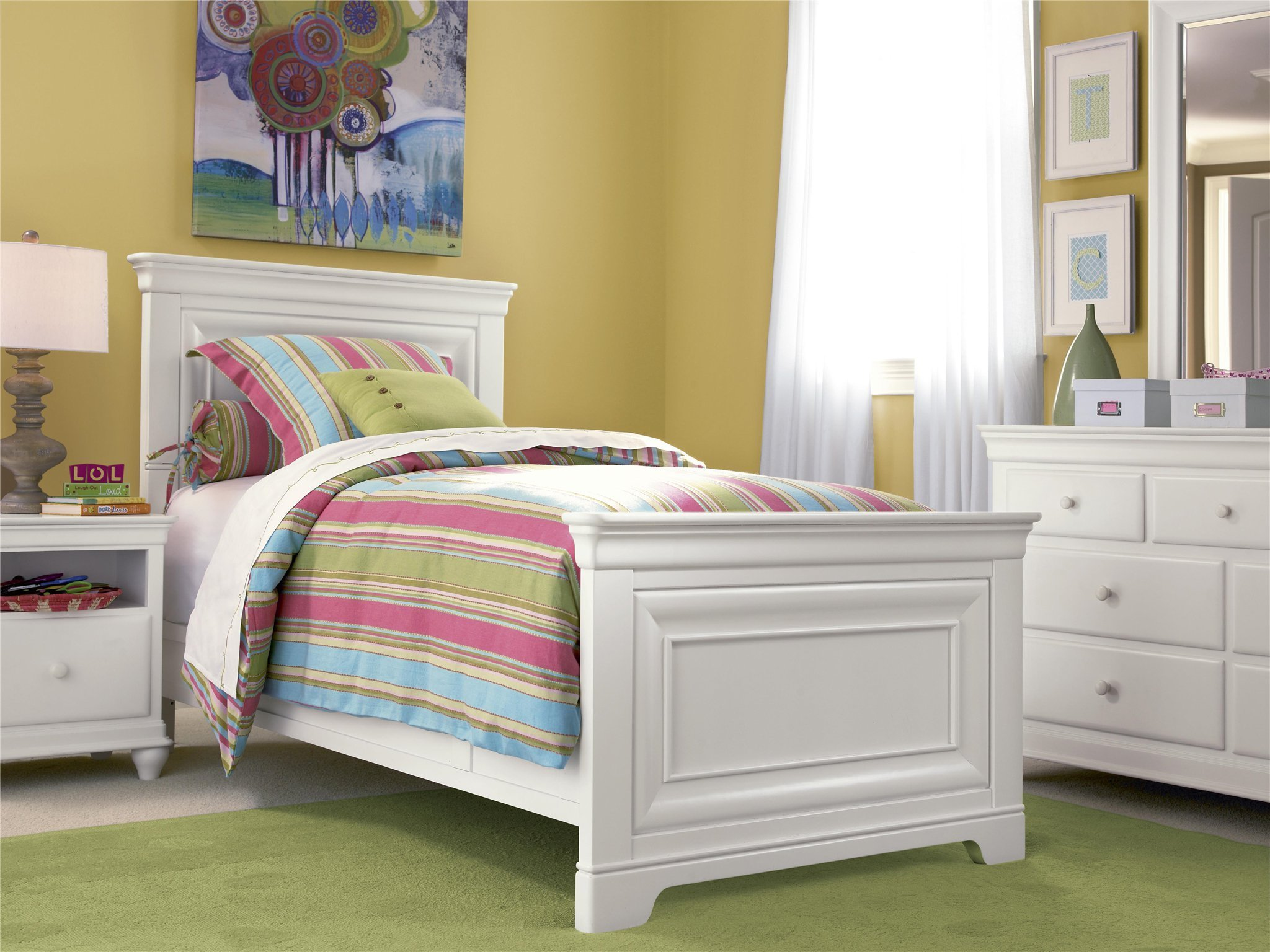 Best Smartstuff Furniture Classics 4 Twin Panel Bed With Pictures