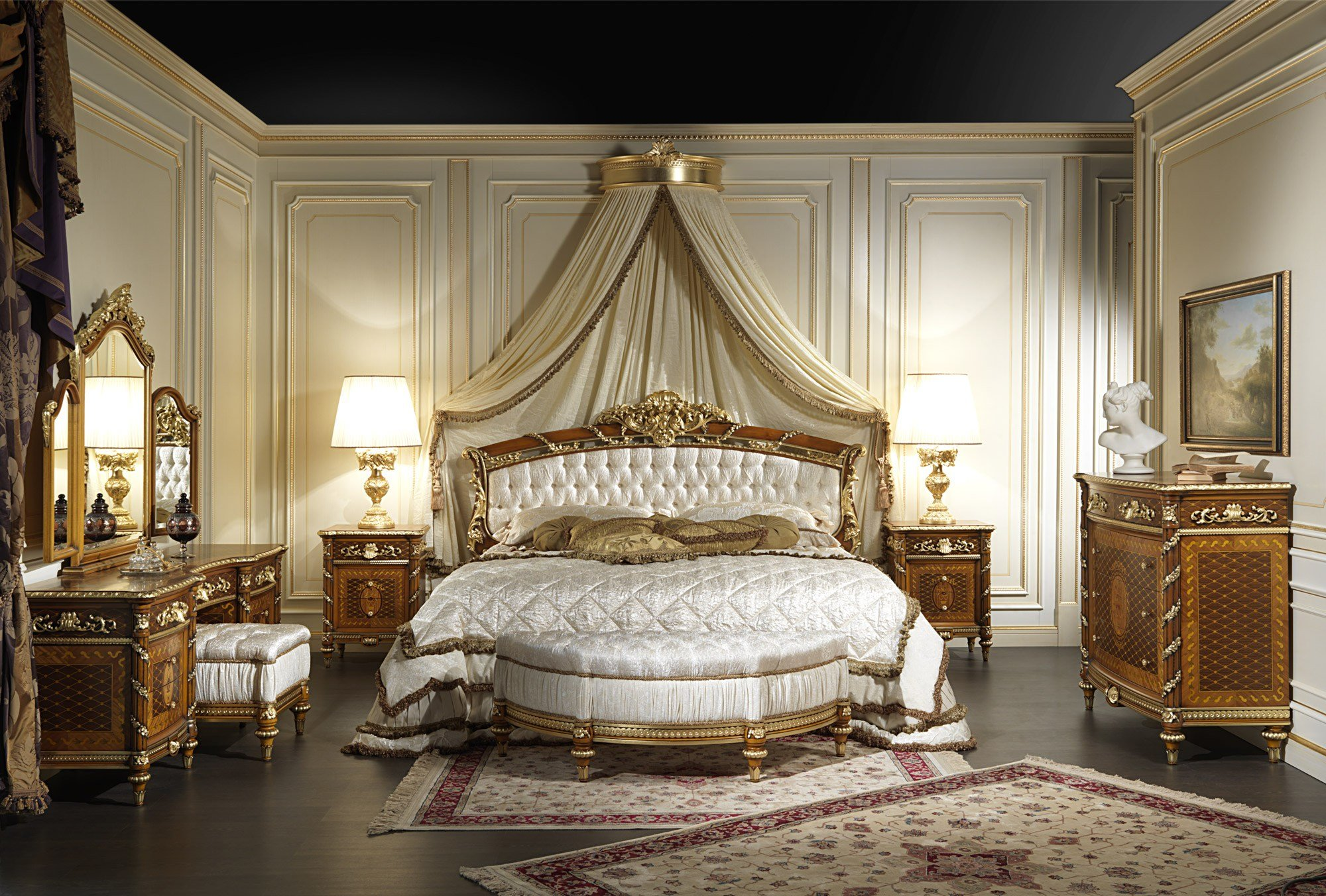 Best Classic Bedroom In Walnut Louis Xvi Style With Pictures