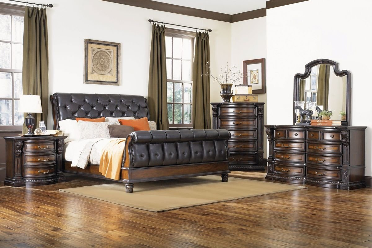 Best Cabernet 5 Piece Queen Bedroom Set With 32 Led Tv At With Pictures