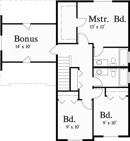 Best Narrow Lot House Plan 4 Bedroom House Plan Bonus Room Plan With Pictures