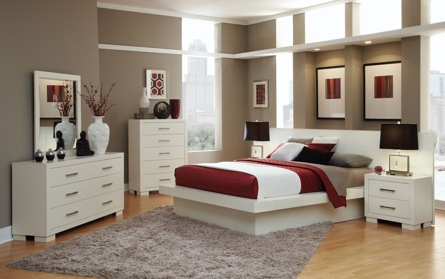 Best Coaster Jessica Bedroom Set White 202990 Bed Set At With Pictures