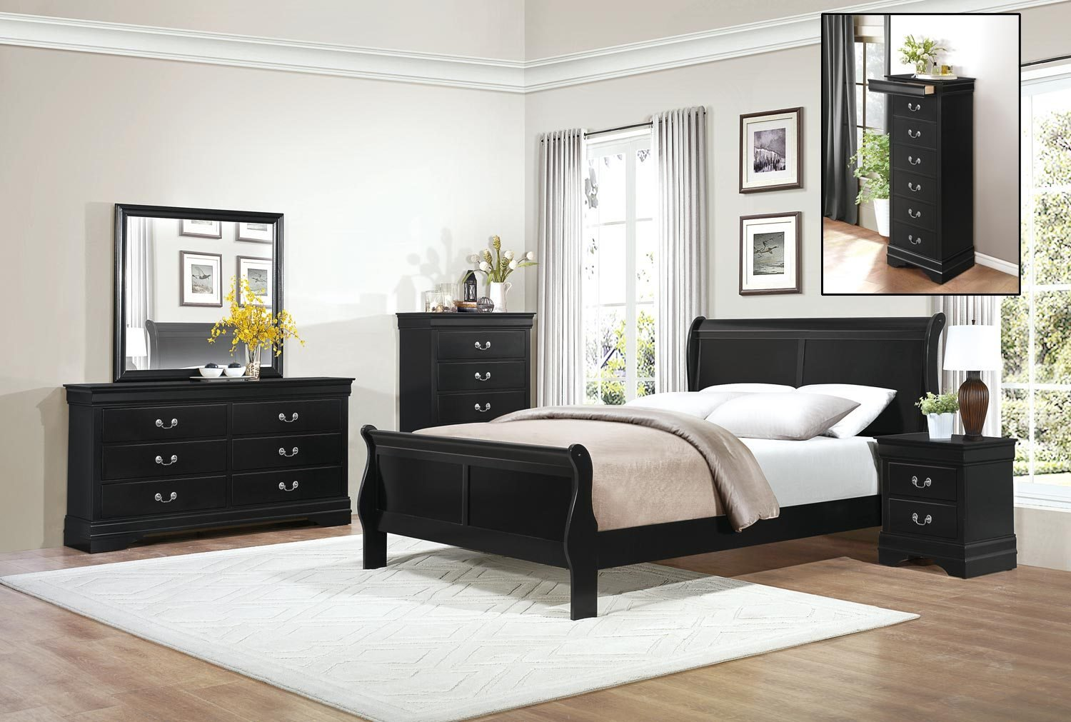 Best Homelegance Mayville Bedroom Set Black 2147Bk Bedroom With Pictures