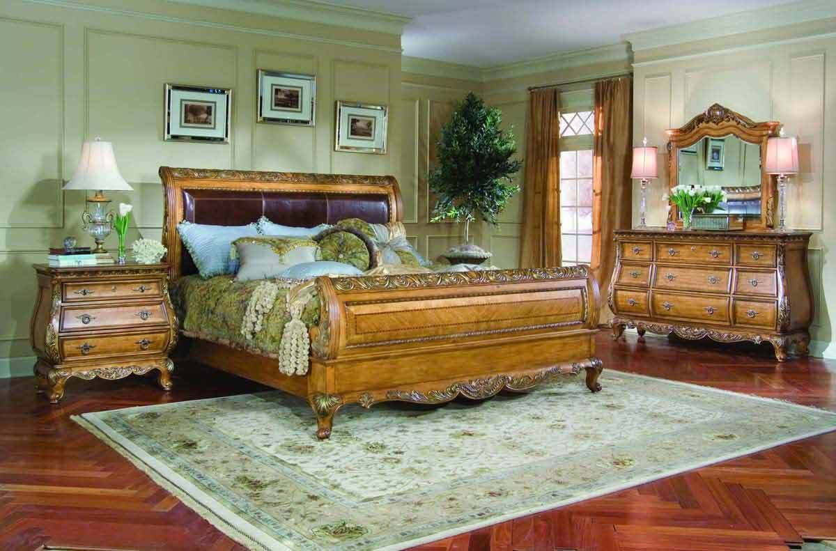 Best Legacy Classic Versailles Leather Sleigh Bedroom With Pictures