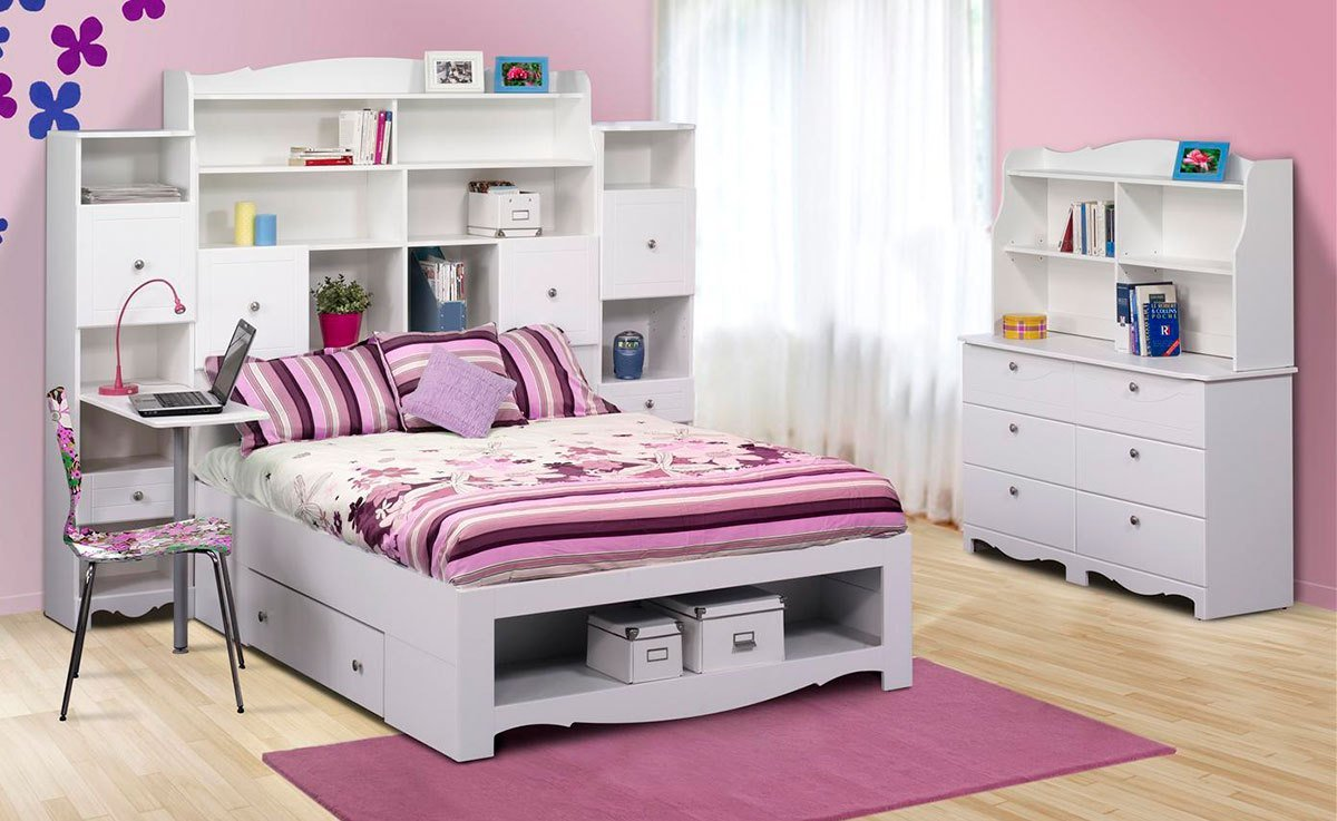 Best Nexera Pixel Youth Full Size Tall Bookcase Storage Bedroom With Pictures