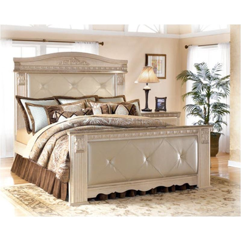 Best B174 57 Ashley Furniture Queen Upholstered Mansion Bed With Pictures