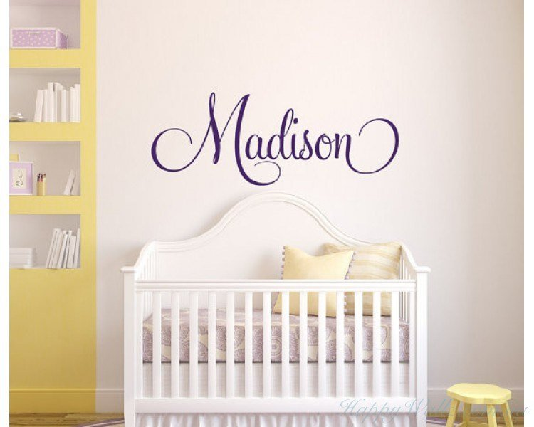 Best Personalised Children S Name Wall Decal Girls Name With Pictures