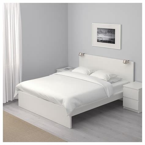 Best Malm Bed Frame High White Luröy Standard Double Ikea With Pictures