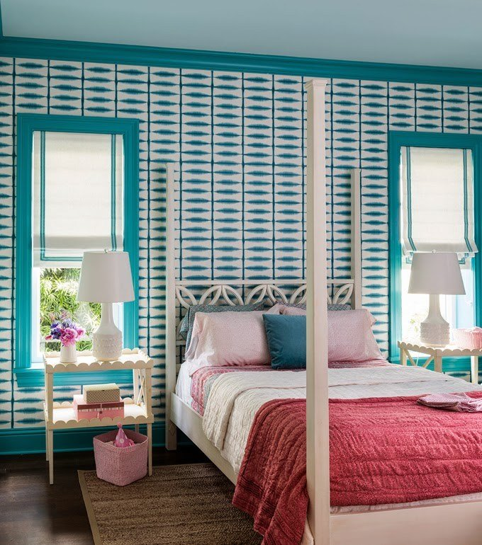 Best Turquoise Red And Pink Bedrooms Interiors By Color With Pictures