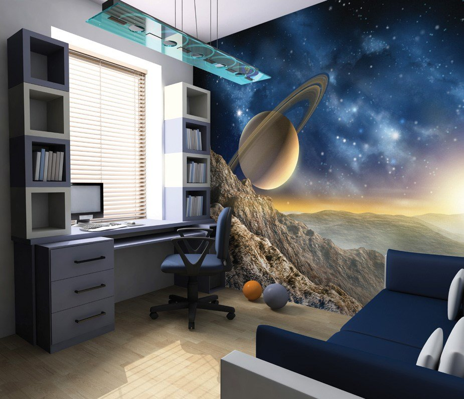 Best Planet Saturn Outer Space Wall Mural With Pictures