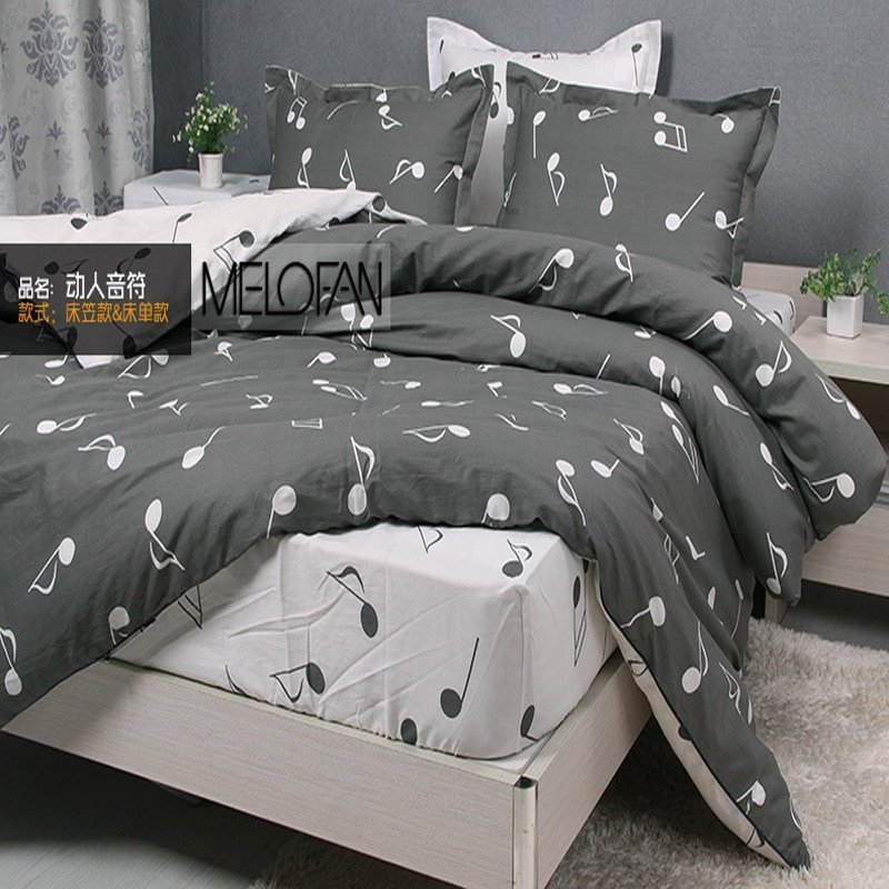 Best Themed Music Note Bed Set Lostcoastshuttle Bedding Set With Pictures