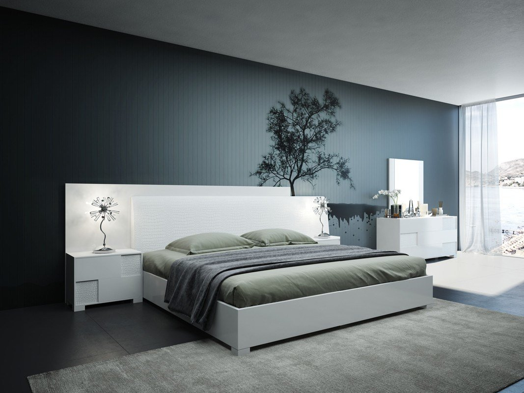 Best Modrest Monza Italian Modern White Bedroom Set With Pictures