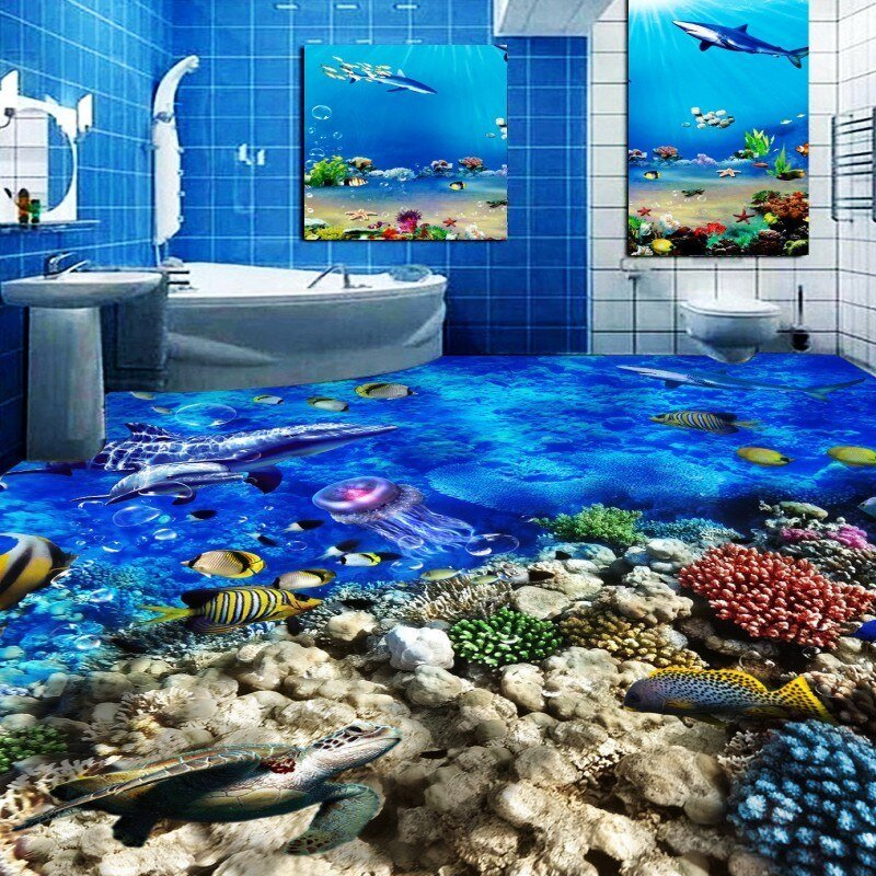 Best Free Shipping Beautiful Underwater World Dolphin Toilet With Pictures