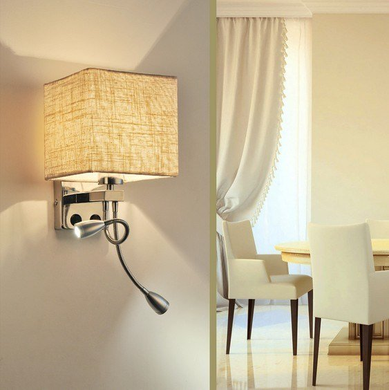 Best Simple Creative Fabric Wall Sconce Band Switch Led Wall With Pictures