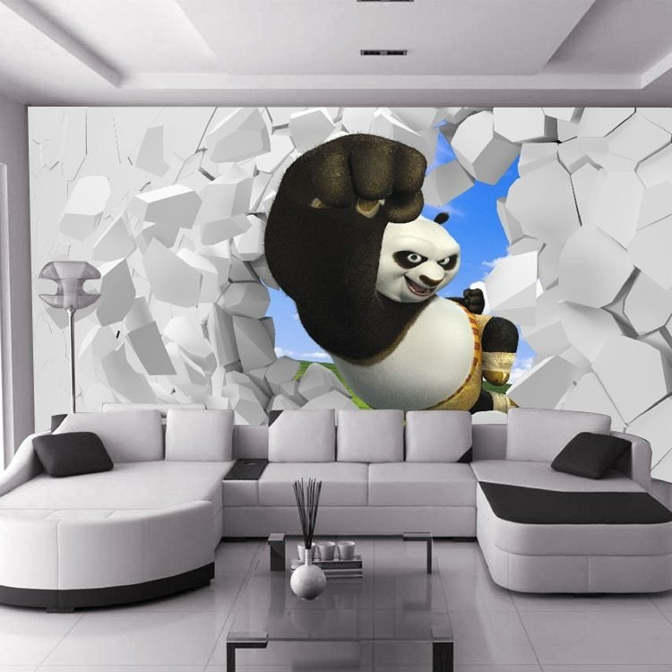 Best Custom 3D Stereoscopic Large Mural Kung Fu Panda Boys And With Pictures