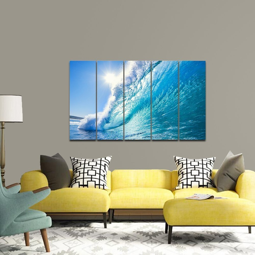 Best Canvas Prints Wall Art Sea Waves Pictures Paintings Ready With Pictures