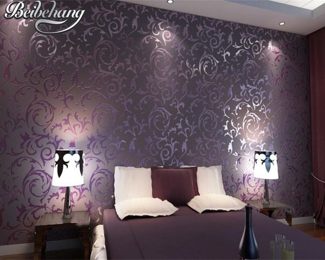 Best Beibehang European Style Wallpaper Luxury Damascus With Pictures