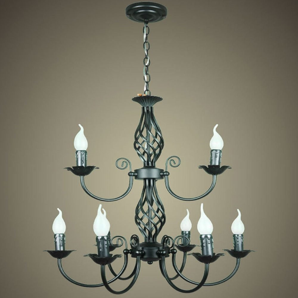 Best Fashion Vintage Wrought Iron Chandelier American Style With Pictures