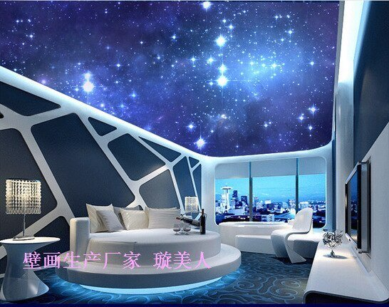 Best 3D Stereoscopic Large Mural In The Night Sky The Moon Ktv With Pictures