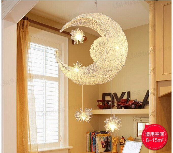 Best Free Shipping Newly Modern Moon Star Led Pendant Lamp For With Pictures