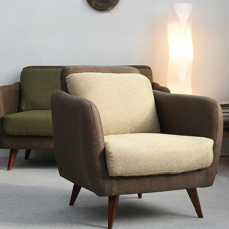 Best Ikea Simple Japanese Style Fabric Sofa Small Apartment With Pictures