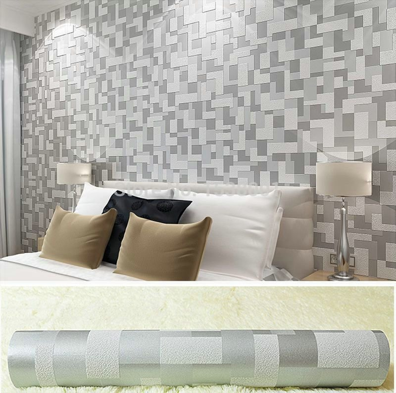 Best Non Woven Embossed 3D Stereoscopic Wallpaper Gray Simple With Pictures