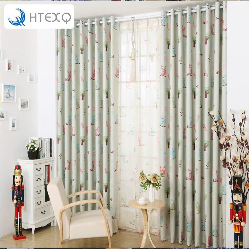 Best Free Shipping Modern Owl Children Curtain Sitting Room With Pictures
