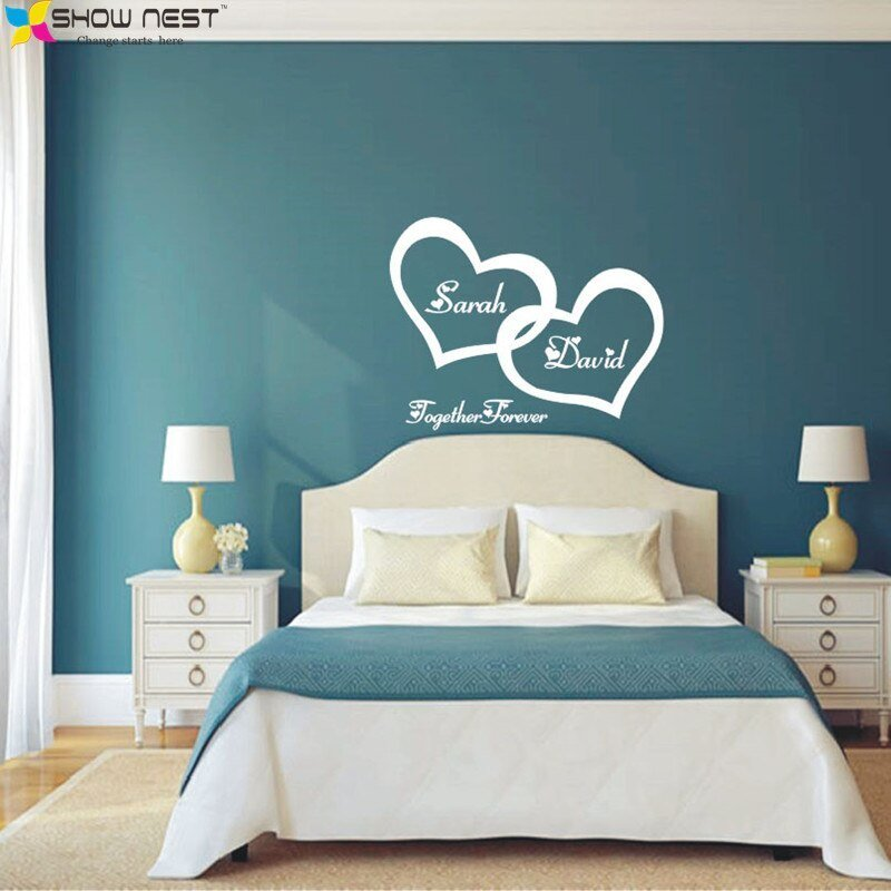 Best Symbol Of Love Forever Wall Sticker Double Heart Custom With Pictures