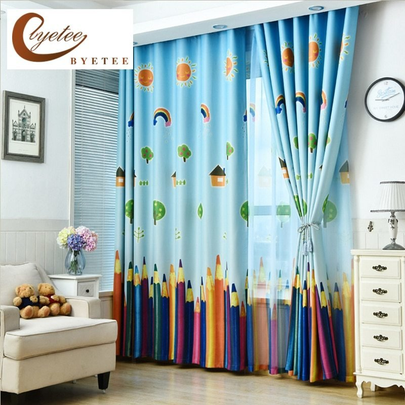 Best Byetee New Curtains Blackout Curtain Fabric Pencil With Pictures