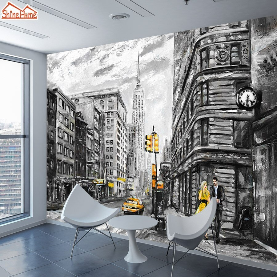 Best Shinehome Black White Wallpapers For Walls 3 D Living Room With Pictures